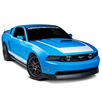 White RTR Style Graphics Package (10-12 All) - American Muscle Graphics 26277