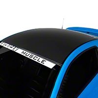 Matte Black Boss Style Roof Decal (05-14 All) - American Muscle Graphics 26280