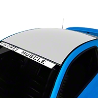 White Boss Style Roof Decal (05-14 All) - AmericanMuscle Graphics 26281