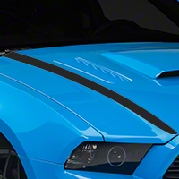 Matte Black Hood Accent Decal (13-14 All) - AmericanMuscle Graphics 26283