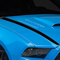 Black Hood Accent Decal (13-14 All) - AmericanMuscle Graphics 26284