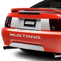White Rear Deck Lid Panel Decal (99-04 All) - American Muscle Graphics 26296