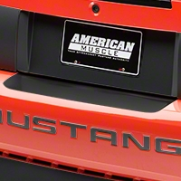 Matte Black Rear Bumper Accent (99-04 All) - AmericanMuscle Graphics 26300