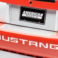 White Rear Bumper Accent (99-04 All) - AmericanMuscle Graphics 26302