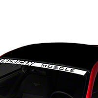 Black Boss Style Roof Decal (94-04 All) - AmericanMuscle Graphics 26304