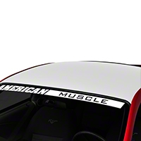 White Boss Style Roof Decal (94-04 All) - AmericanMuscle Graphics 26305
