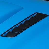 Hood Vent Accent Decal - Carbon Fiber (13-14 All) - AmericanMuscle Graphics 26307