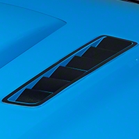 Hood Vent Accent Decal - Matte Black (13-14 All) - AmericanMuscle Graphics 26308