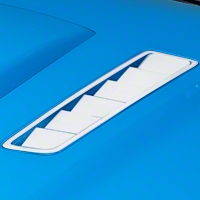 Hood Vent Accent Decal - White (13-14 All) - AmericanMuscle Graphics 26310