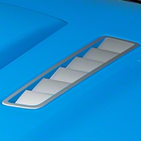 Hood Vent Accent Decal - Silver (13-14 All) - AmericanMuscle Graphics 26311