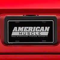 License Plate Insert - Matte Black (05-09 All) - AmericanMuscle Graphics 26312
