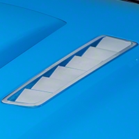 Hood Vent Accent Decal - Chrome (13-14 All) - American Muscle Graphics 26314