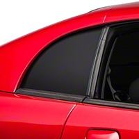 Matte Black Quarter Window Blackout (99-04 GT, V6 & Cobra) - American Muscle Graphics 26318