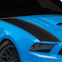 Matte Black Outer Hood Stripes (13-14 All) - AmericanMuscle Graphics 26324