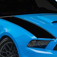 Black Outer Hood Stripes (13-14 All) - AmericanMuscle Graphics 26325