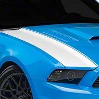 White Outer Hood Stripes (13-14 All) - AmericanMuscle Graphics 26326