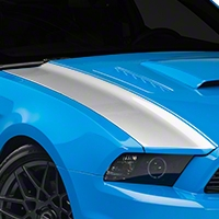 Silver Outer Hood Stripes (13-14 All) - AmericanMuscle Graphics 26327