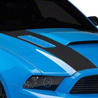 Matte Black Inner Hood Stripes (13-14 All) - American Muscle Graphics 26332