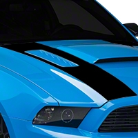 Black Inner Hood Stripes (13-14 All) - AmericanMuscle Graphics 26333