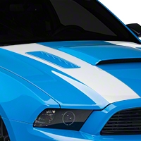 White Inner Hood Stripes (13-14 All) - AmericanMuscle Graphics 26334