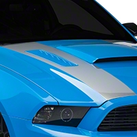 Silver Inner Hood Stripes (13-14 All) - AmericanMuscle Graphics 26335