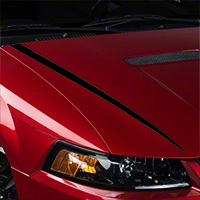 Black Hood Accent Decal (99-04 GT; 99-02 V6) - American Muscle Graphics 26341
