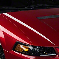 White Hood Accent Decal (99-04 GT; 99-02 V6) - American Muscle Graphics 26342
