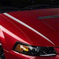 Silver Hood Accent Decal (99-04 GT; 99-02 V6) - American Muscle Graphics 26343