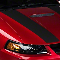 Matte Black Inner Hood Stripes (99-04 GT; 99-02 V6) - American Muscle Graphics 26344