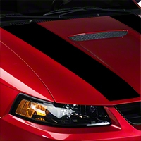 Black Inner Hood Stripes (99-04 GT; 99-02 V6) - American Muscle Graphics 26345