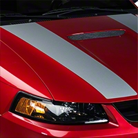Silver Inner Hood Stripes (99-04 GT; 99-02 V6) - American Muscle Graphics 26347