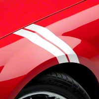 White Hash Marks (05-14 All) - AmericanMuscle Graphics 26159