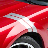 Silver Hash Marks (94-04 All) - AmericanMuscle Graphics 26160