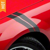 Matte Black Hash Marks (05-14 All) - American Muscle Graphics 26179