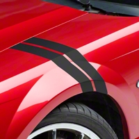Matte Black Hash Marks (94-04 All) - AmericanMuscle Graphics 26179