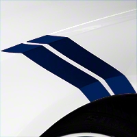 Blue Hash Marks (05-14 All) - AmericanMuscle Graphics 26238