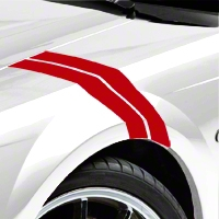 Red Hash Marks (94-04 All) - AmericanMuscle Graphics 26239