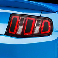 Tail Light Conversion Decal Kit - Matte Black (10-12 All) - American Muscle Graphics 26363