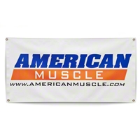 AmericanMuscle Banner - AM Accessories 13ozbanner2x4