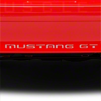Silver Vinyl Bumper Insert Letters (87-93 GT, LX) - American Muscle Graphics 26615
