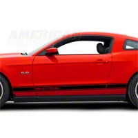 Black Rocker Stripes w/ Mustang Lettering (79-14 All)