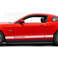 White Rocker Stripes w/ Mustang Lettering (79-14 All)