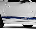 Blue Rocker Stripes w/ Mustang Lettering (05-14 All) - AmericanMuscle Graphics 26248