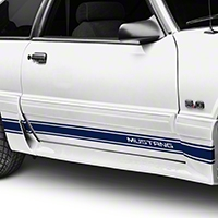 Blue Rocker Stripes w/ Mustang Lettering (79-93 All) - American Muscle Graphics 26248