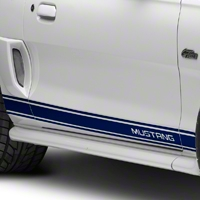 Blue Rocker Stripes w/ Mustang Lettering (94-04 All) - American Muscle Graphics 26248