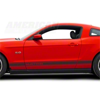 Matte Black Rocker Stripes w/ Mustang Lettering (79-14 All)
