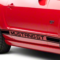 Black Rocker Stripes w/ Mustang GT Lettering (05-14 All)