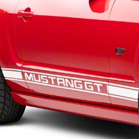 White Rocker Stripes w/ Mustang GT Lettering (05-14 All)