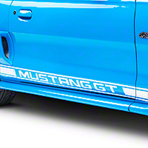 White Rocker Stripes w/ Mustang GT Lettering (94-04 All)
