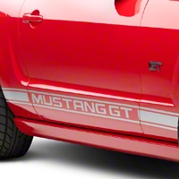 Silver Rocker Stripes w/ Mustang GT Lettering (05-14 All)